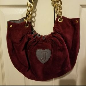 Juicy Couture Maroon velvet purse